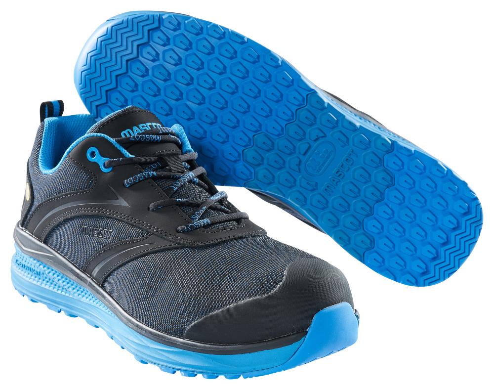 F0250-909-0911 Zapatos de seguridad - negro/azul real