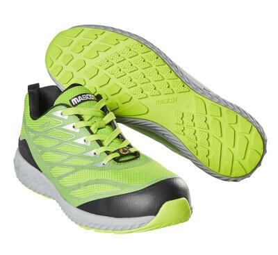 F0301-909-37880 Zapatos de seguridad - verde lima/plata